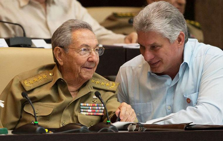 Raúl Castro said in 2018 he wanted Díaz-Canel to be his successor as party leader.