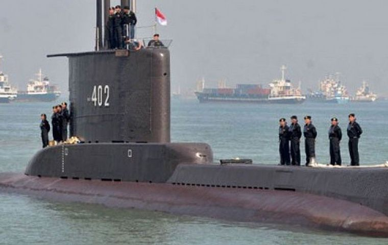 KRI Nanggala-402 is one of the Indonesian fleet's five submarines