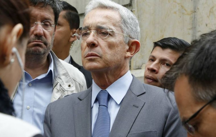 "Uribe's message on Twitter was deleted hours later for failing to comply with his policies ""regarding the glorification of violence"""
