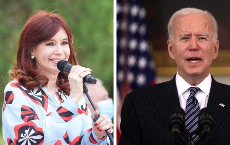 Life is full of surprises for CFK who heard Biden echo her economic thoughts