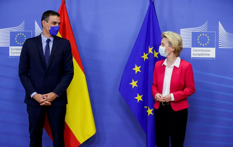 """Sánchez asked Von der Leyen for """"a concrete proposal"""" on sustainable development which seems to be one of the biggest objections to the accord with Mercosur"""