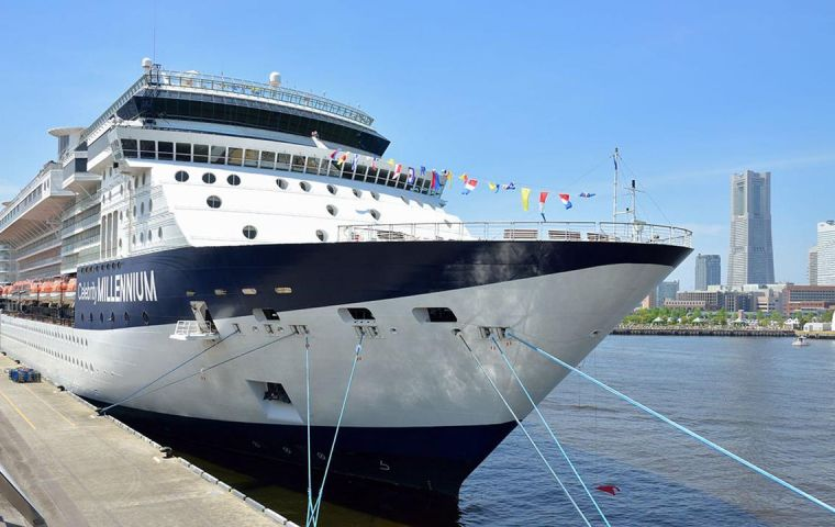 """""""Two guests sharing a stateroom onboard Celebrity Millennium tested positive for COVID-19 while conducting the required end-of-cruise testing,"""" Royal Caribbean said in a statement"""