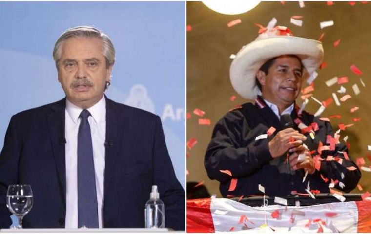 Fernández, Ortega, Lula and Arce have congratulated President-elect Castillo