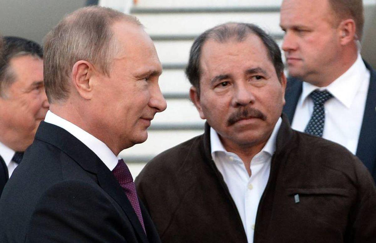 Putin when he visited Managua and met with Daniel Ortega