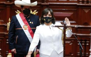 Vice President Dina Boluarte became the first woman to reach such a high office
