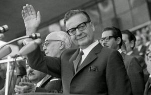 Salvador Allende was democratically elected in 1970  president of Chile as head of a coalition of left wing parties