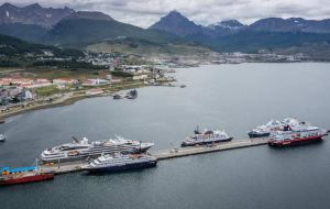 From the original 461 cruise calls planned for this summer, Ushuaia officials are now admitting some 330, many to be confirmed, and a shorter season