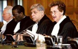 International Court, headed by British magistrate Rosalyn Higgins.