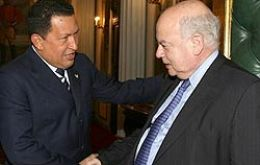 President Hugo Chavez and OAS Secretary Jose Insulza