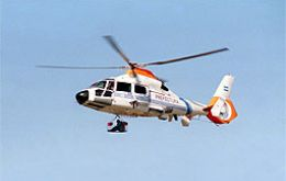 Coast Guard helicopter made a medical evacuation