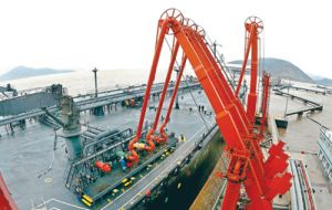 Crude oil pipelines at Ningbo Port, Zhejiang Province