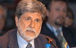 Foreign Affairs minister Celso Amorim