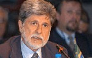 "Pte. Bush is coming to Brazil in search for cooperation in fuels"", said Minister Amorim"