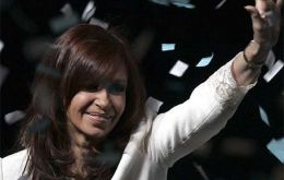 Cristina Fernandez de Kirchner will asume presidential powers from her husband