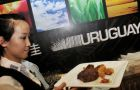 The big barbeque at Uruguay's stand in the Shanghai World Expo