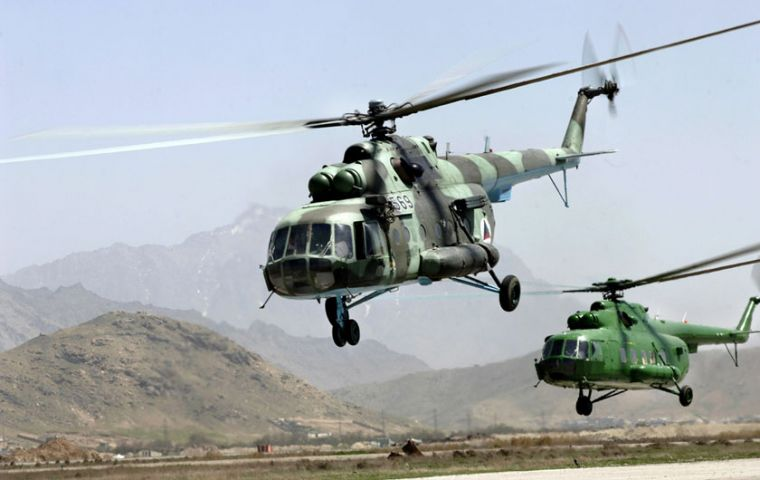 The operation involves two Mi-17 multipurpose helicopters mainly for Antarctic logistics