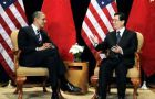 President Obama greets Chinese President Hu Jintau at the White House