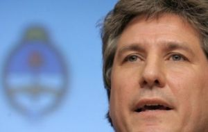 Minister Amado Boudou satisfied with the performance and achievements of the economy