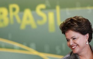 President Rousseff confident Brazil is prepared and strong to face financial turmoil