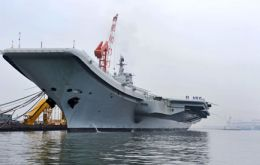 The 67.500 ton former Soviet aircraft carrier refurbished and ready to become the Chinese Navy's symbol of power (Photo Xinhua Press/Corbis)