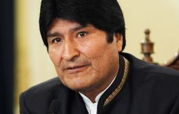 Bolivian president Morales whose country is hosting the OAS meeting