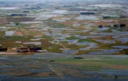 In Argentina 13 to 16 million hectares are flooded or too wet to plant
