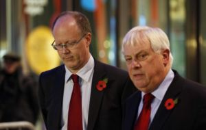 George Entwistle and Lord Patten making the announcement (Photo PA)