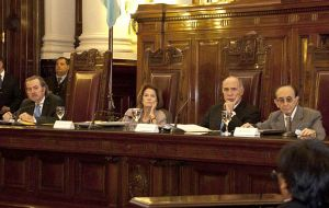 With three Justices absent the Argentine Supreme Court held the emergency meeting