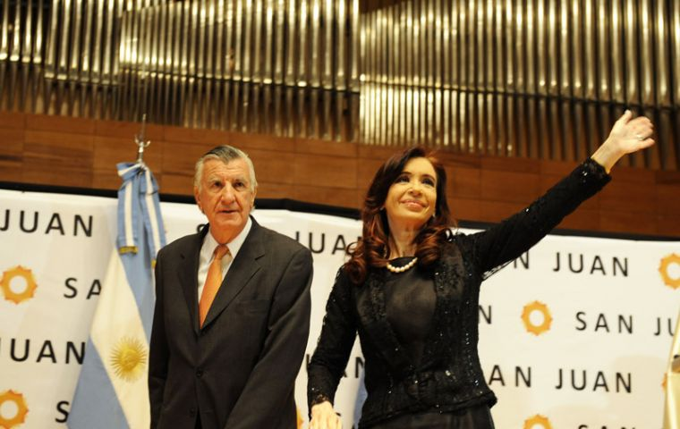 """We will not be watching with our arms folded"", said President Cristina Fernandez"