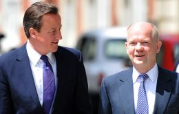 "Cameron and Hague accused of ""have been hostage by the militant Tory wing"""