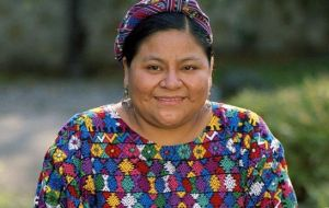 Nobel Peace Prize winner Rigoberta Menchú of Guatemala called for a more rigorous program to make good on the promises of the 2007 declaration.