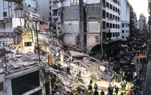 July 1994 AMIA's several floors headquarters in downtown Buenos Aires was blown up in Argentina's worst terrorist attack killing 85 and injuring hundreds.