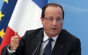 """You have sought to put Argentina in a new place: more open, more credible"" Hollande told the news conference. ""France is ready to back you."""