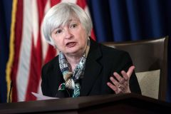 """Proceeding cautiously will allow us to verify that the labor market is continue to strength given the economic risk from abroad,"" said Fed Chairman Janet Yellen."