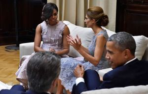 Tuesday evening the Macris will be meeting the Obama couple at the official US president reception