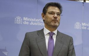 Spain's justice minister Catalá warned that any declaration of independence could allow the national government to intervene in the running of an autonomous region.