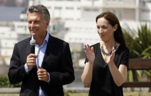 A government spokeswoman said Macri's Let's Change coalition would halt campaigning for the day after the discovery of a body in the Chubut river