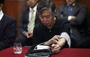 Fujimori had been serving a 25-year sentence for graft and human rights crimes during his 1990-2000 right-wing populist government.