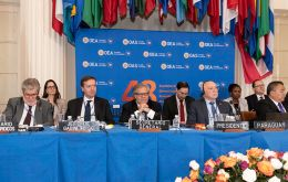 The closing ceremony of the OAS 48th General Assembly held in Washington